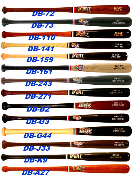 D-Bat Pro Stock Series Ash Baseball Bats