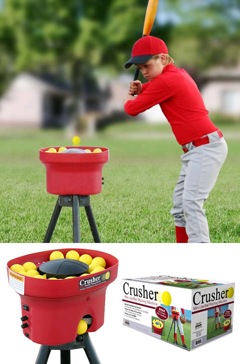 small wiffle pitching machine