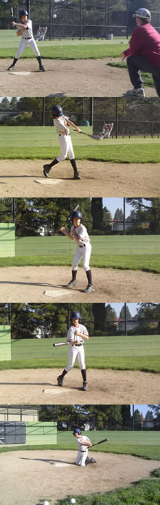 softball hitting one hand drill