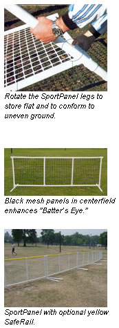 SportPanel Portable Outfield Fencing
