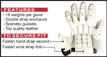 weighted batting gloves