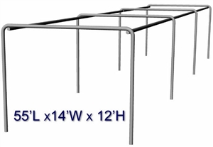 Cimarron 55x14x12 Stand Alone Batting Cage Frame With 2