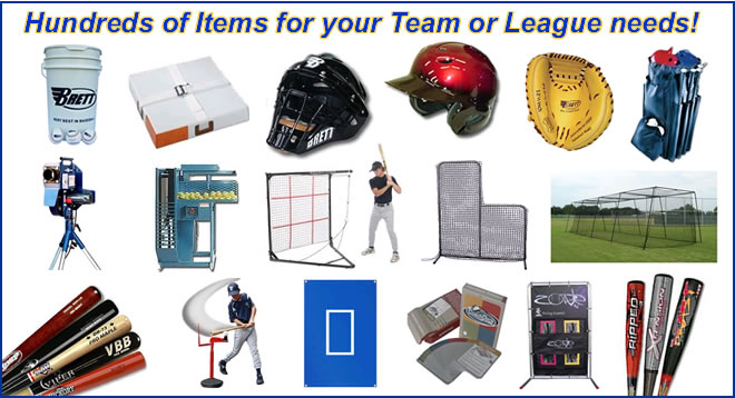 Baseball Team, League and School Equipment Sales